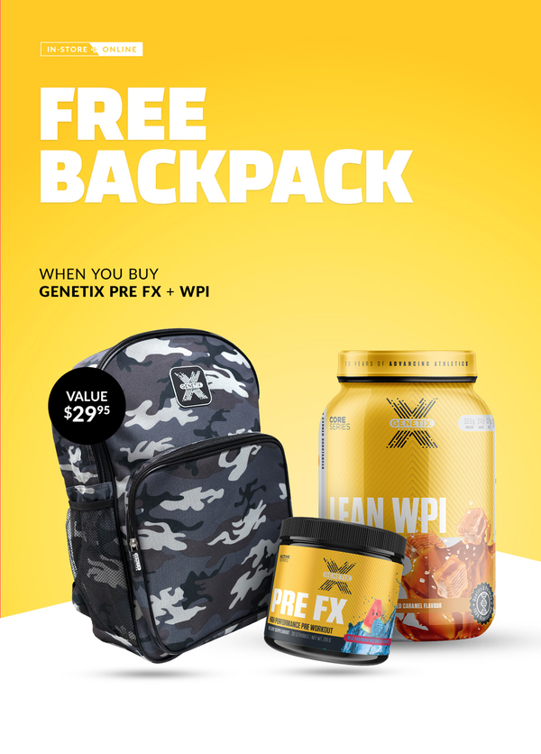 FREE Genetix Backpack With Pre FX + Lean WPI Purchase