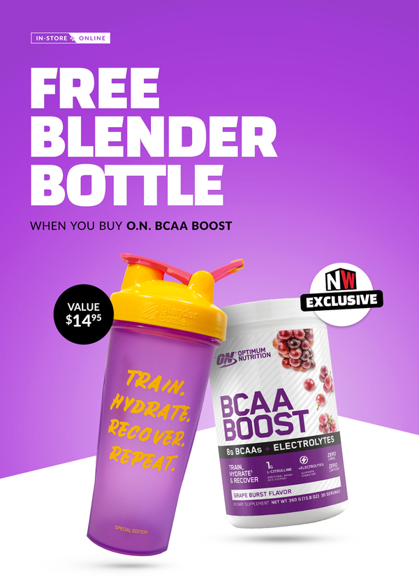 FREE Blender Bottle With Optimum Boost BCAA Purchase